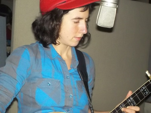 Kendl Winter (+ banjo) recording her new K album at Dub Narcotic Studio, Dec. 2012!