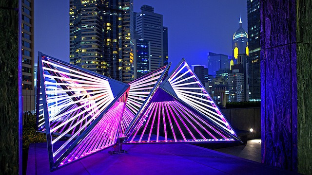 Hong Kong's urban landscape informs this abstract, interactive sculpture by Wendy W Fok.