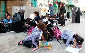 palestine-latest:  This is how Palestinian children learn In Gaza, since schools are targeted also Palestinian school children taking lessons outside their destroyed school in Gaza