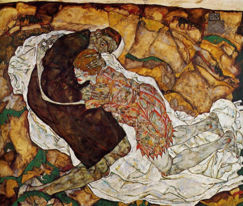 nuclearharvest:  Death and the Maiden by Egon Schiele 1915