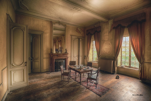 jeweledfrogcreations:  abandoned dining room by silent witnesses on Flickr.