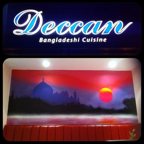 #deccanbangladeshirestaurant#urmston#mrdabl#spraypaint#tajmahal#sunrise#indian#curry#2013
