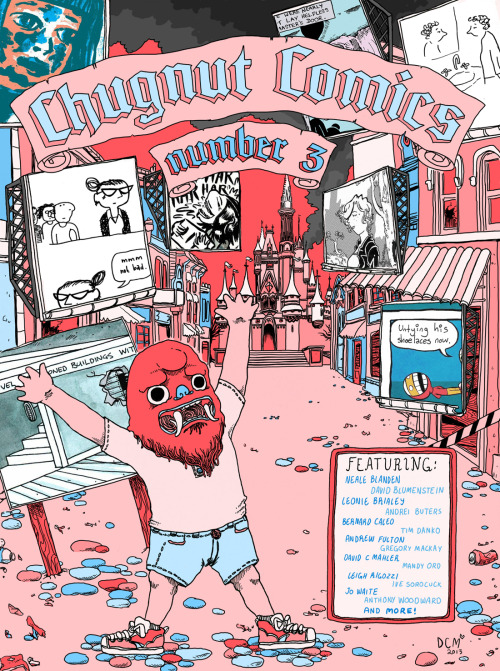 Here's the final Chugnut Comics 3 cover I did. You can download the PDF here! For free! - http://cl.ly/Ojvw  I hope that works…let me know if it doesn't? Thanks to Anthony Woodward for the opportunity, I love drawing covers! Ugh, tumblr's not letting me hyperlink again, so go here to check out one of Melbourne's best, most devoted and community-minded comicers - http://awcomix.tumblr.com/