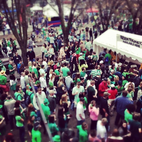 Shamrock the Block, sky-view #shamrocktheblock #rva  (at Shamrock the Block)