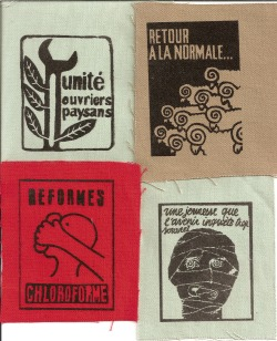 onlylivingirlinchicago:  baronesselsa:  situationist patches  Hey yall its the 45th anniversary of the May 68 strike in Paris!