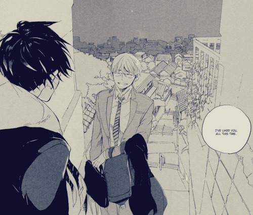 "yuki-loves-yaoi:  ""I've liked you, all this time."""