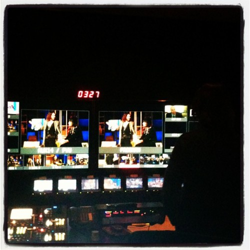 2/6 - Control room view of Noel Fielding & @rustyrockets role play to close out the @brandxonfx test show. #brandx (at Sunset Bronson Studios)