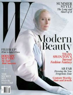 Tilda Swinton on the cover of W Magazine, May 2013. Photo by Tim Walker.