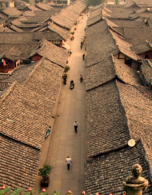 thirty-six-stratagems:  Streets, Langzhong Ancient City Of Nanchong, Sichuan, China