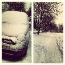 N'awh my poor Izzy! #fiat #500 #snow #shovelmywayouttahere  (at Birmingham)