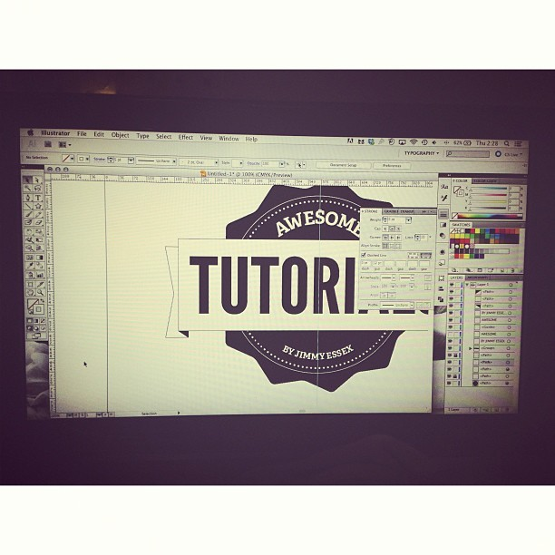 #educating myself in #illustrator. Not bad for my first try from a tutorial.