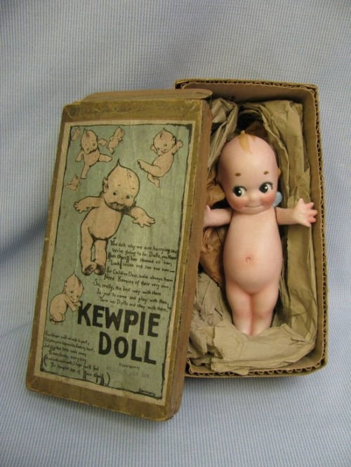 crustydollparts:     1930's Kewpie Doll