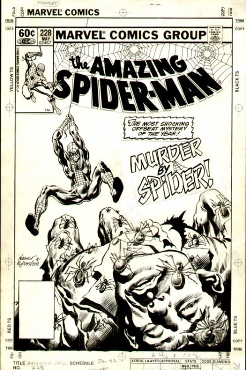 themarvelageofcomics:  The cover to AMAZING SPIDER-MAN #228 by Mike Nasser and Joe Rubinstein.