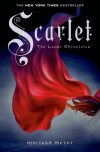 Scarlet (Lunar Chronicles, Book 2) Marissa Meyer Cinder, the cyborg mechanic, returns in the second thrilling installment of the bestselling Lunar Chronicles. She's trying to break out of prison—even though if she succeeds, she'll be the Commonwealth's most wanted fugitive. Halfway around the world, Scarlet Benoit's grandmother is missing. It turns out there are many things Scarlet doesn't know about her grandmother or the grave danger she has lived in her whole life. When Scarlet encounters Wolf, a street fighter who may have information as to her grandmother's whereabouts, she is loath to trust this stranger, but is inexplicably drawn to him, and he to her. As Scarlet and Wolf unravel one mystery, they encounter another when they meet Cinder. Now, all of them must stay one step ahead of the vicious Lunar Queen Levana, who will do anything for the handsome Prince Kai to become her husband, her king, her prisoner.