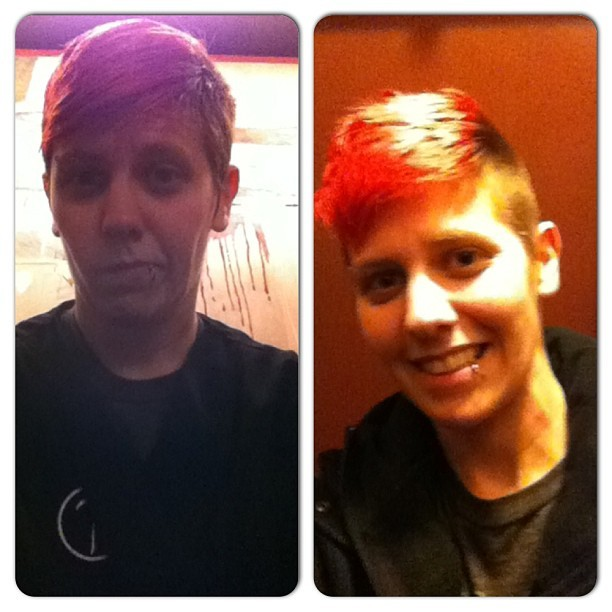 #before and after #haircut #seven salon #seattle #queer cuts #lesbian