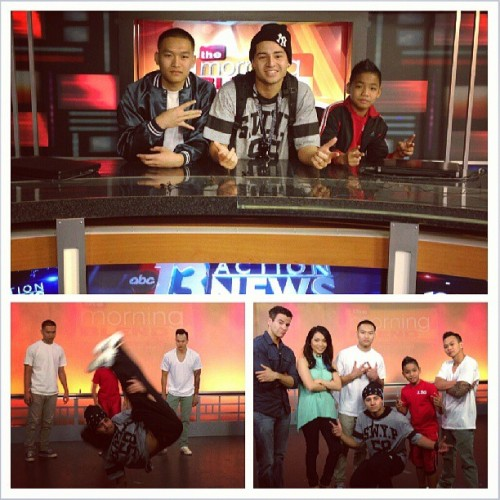 On set of @LVMorningBlend to promote @redbullbcone @redbullLV with @mig187 @eranetiksupreme @anjelolildemon #rbbc Check out cashmereagency.com/blog for details on tomorrow's FREE las Vegas b-boy competition!