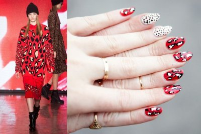 (via moveSlightly: DKNY Fall 2013 #NYFW Nail Art)