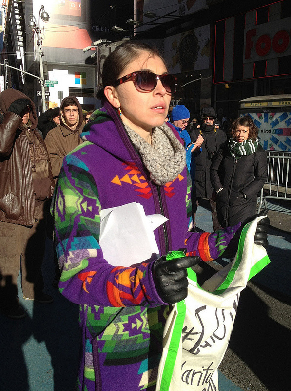 Daryl Idle No More Solidarity Round Dance in Times Square, NYC on December 30th, 2012.