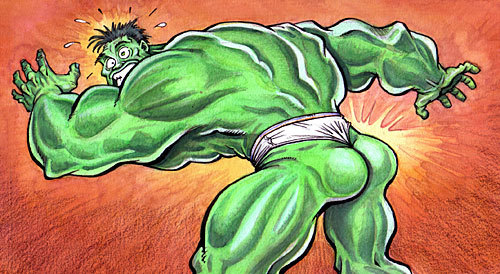 kilomonster:  talegas:  Hulk Butt From MAD.  I've always wondered…