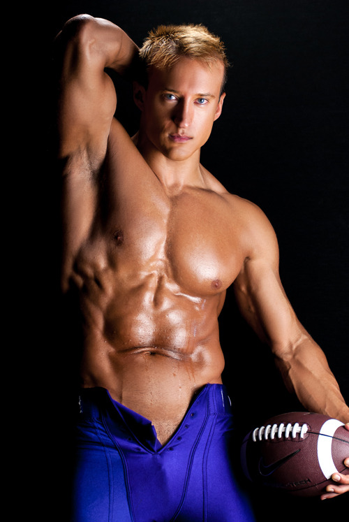 """Carter Wilson in """"The Dirty Seven Gods of Sports"""" ebook with photography by Marcus McCormick. Check out the mention at http://malefitnessmodels.net/marcusmccormick-carterwilson.html"""