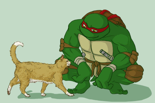 crazed-and-confused:  SQUEEEEEEEEEEEEEEEEEEEEEEEEE RAPH AND KITTY OH GOD i love him so much