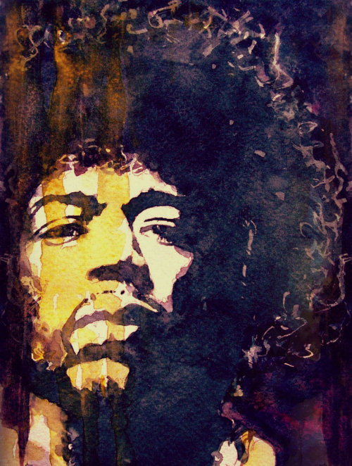 "thelookingglassgallery:  ""Jimi Hendrix"" by Paul Lovering"