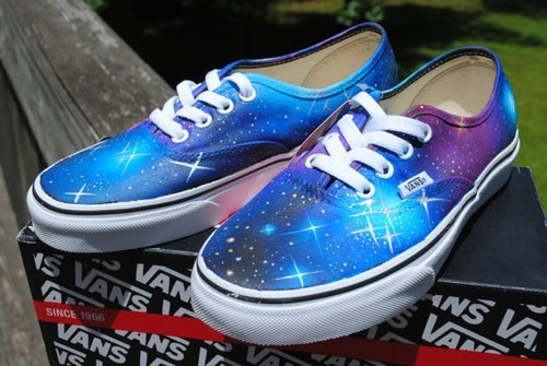 iloveshoessoyouloveshoes:  Galaxy vans 2!