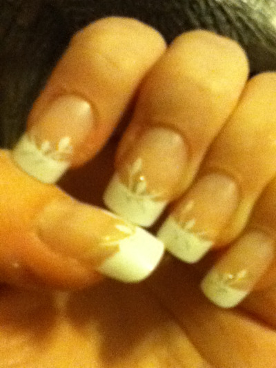 My nails for prom. Aren't they pretty? (:
