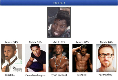 I usually don't think these celebrity look-alike generators are all that great, but this seems pretty spot on. Totally real results, I did not create this in photoshop at all. Nope.