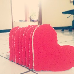 #red #Styrofoam #heart for #dramus #property
