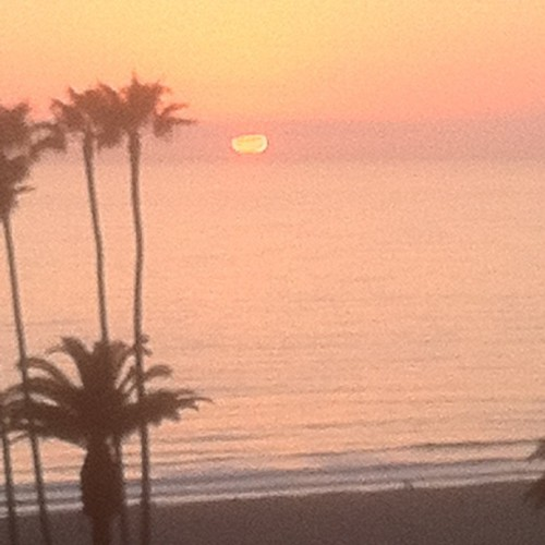 Good bye Santa Monica, thanks for the sunsets.