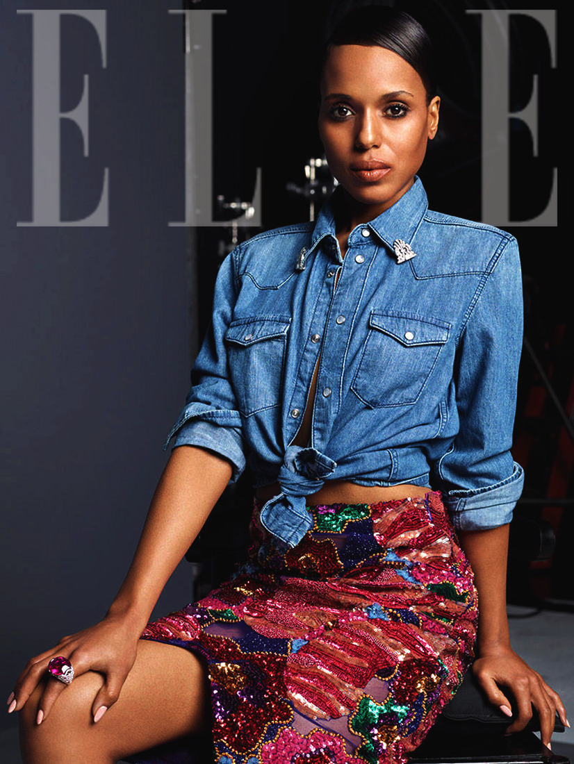 Kerry Washington for Elle Magazine, June 2013