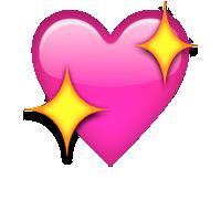 heart sparkles transparent sparkling emoji sparkling heart rrosa •
