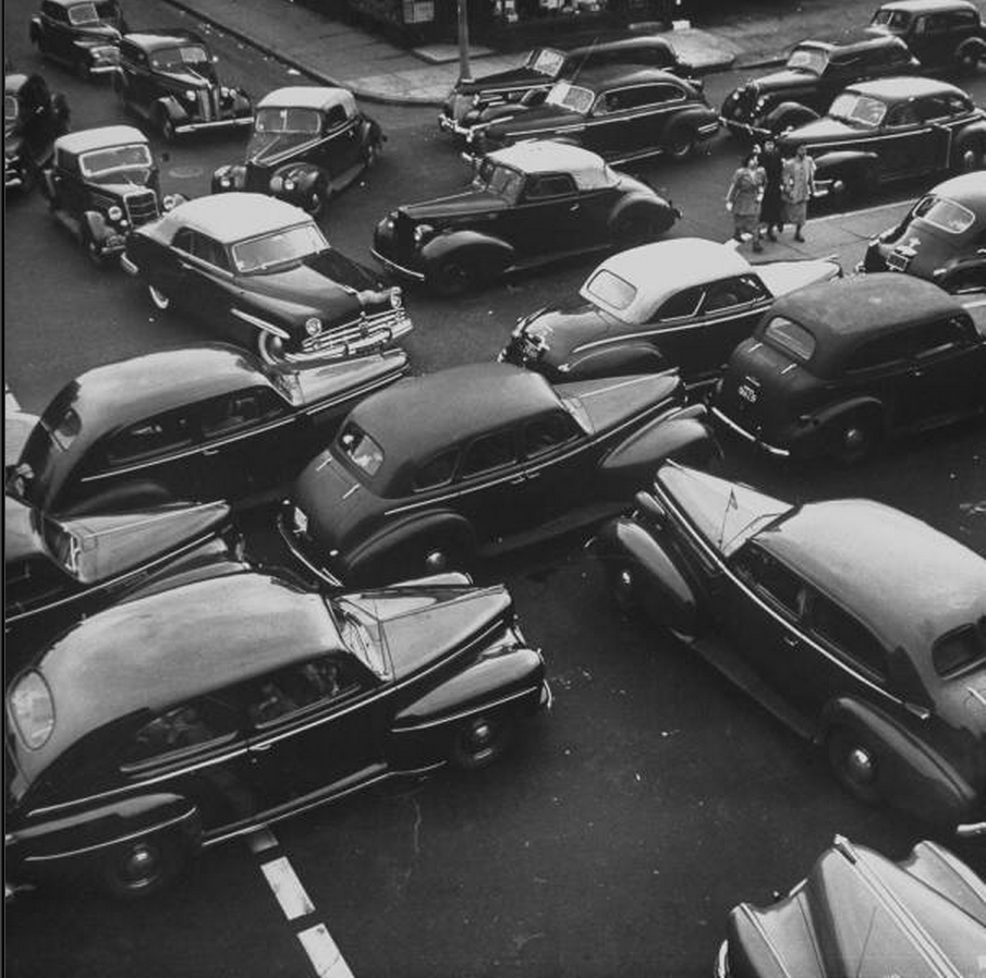 firsttimeuser:  traffic.. Boston, 1949 by Cornell Capa