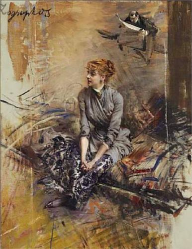 capturing-the-light:  Portrait of Madame Gabrielle Rejane, Giovanni Boldini