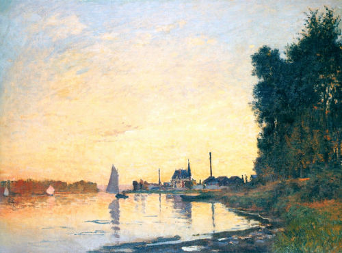 thombray:  Claude Monet - Argenteuil, Late Afternoon (1872)