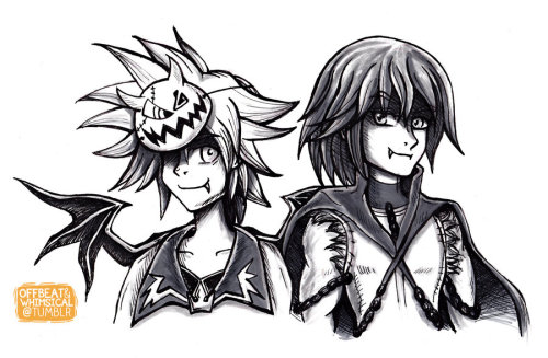 Commision: KH Sora and Riku, Halloween Town by ~twillis  I just recently started taking commissions and this is my favorite one so far :3. I was happy to get this request because it made me finally draw Sora (Ive been intending to foreverrrrrrr) I hope Riku is an ok interpretation, I was trying to think of a good way to go about his outfit, and I just wanted to keep it simple.