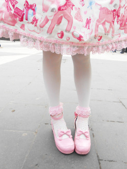 cute dress shoes japanese kawaii Legs pink bow sweet lolita sweet lolita loli sweet loli