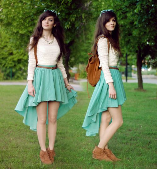 lookbookdotnu:  Mint sweets (by Sonja Gje)