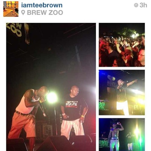 #Repost from @iamteebrown - (yeah, your pictures were better) had a good time tonight!! Naughty by Nature showing out!