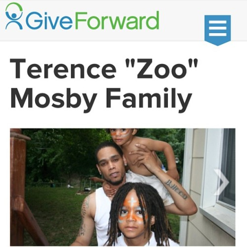 Just started a fundrasier on GiveForward.com Lets make this big for my bro Terence #ZooBhood Mosby #Hero #Love #HelpNeeded #Inspire #family #hope #giveforward #give #share Please share this! > http://gfwd.at/11C8D8e  #dibkis