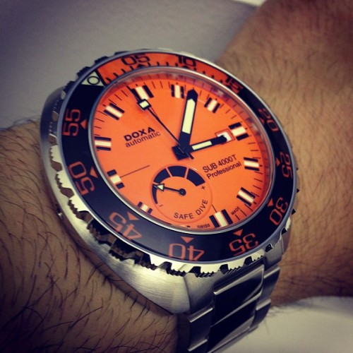 ablogtowatch:  Doxa SUB 4000T Professional dive watch with sapphire bezel #ablogtowatch #baselworld2013 #watchporn #instawatches