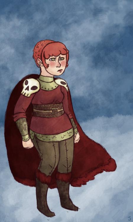 Nimona is an excellent comic, go read it! I drew an arctic warrior Nimona. She gots skull shoulders.