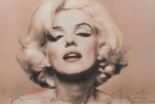 Marilyn Monroe, Pink Portrait (from The Last Sitting), 1962 by Bert Stern