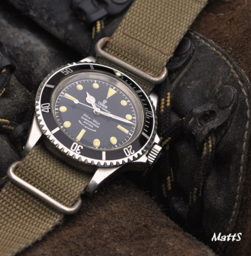 omegaforums:  Vintage Tudor Submariner On NATO Strap Circa 1960s