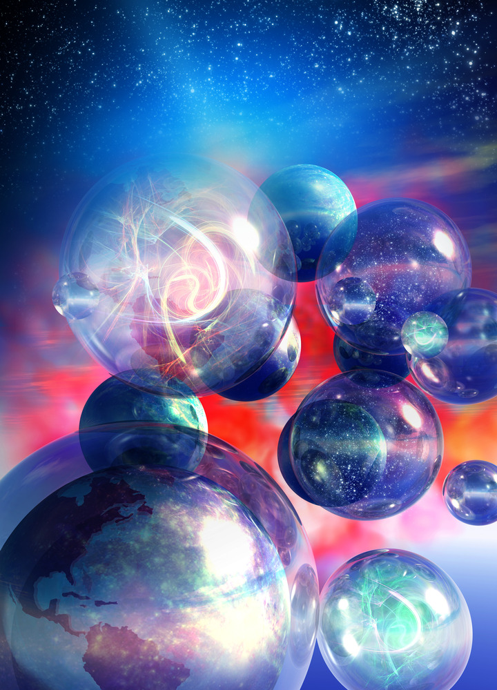 "5 Reasons We May Live in a Multiverse The universe we live in may not be the only one out there. In fact, our universe could be just one of an infinite number of universes making up a ""multiverse."" Though the concept may stretch credulity, there's good physics behind it. And there's not just one way to get to a multiverse — numerous physics theories independently point to such a conclusion. In fact, some experts think the existence of hidden universes is more likely than not. Here are the five most plausible scientific theories suggesting we live in a multiverse: 1. Infinite Universes Scientists can't be sure what the shape of space-time is, but most likely, it's flat (as opposed to spherical or even donut-shape) and stretches out infinitely. But if space-time goes on forever, then it must start repeating at some point, because there are a finite number of ways particles can be arranged in space and time. So if you look far enough, you would encounter another version of you — in fact, infinite versions of you. Some of these twins will be doing exactly what you're doing right now, while others will have worn a different sweater this morning, and still others will have made vastly different career and life choices. Because the observable universe extends only as far as light has had a chance to get in the 13.7 billion years since the Big Bang (that would be 13.7 billion light-years), the space-time beyond that distance can be considered to be its own separate universe. In this way, a multitude of universes exists next to each other in a giant patchwork quilt of universes. [Visualizations of Infinity: A Gallery] 2. Bubble Universes In addition to the multiple universes created by infinitely extending space-time, other universes could arise from a theory called ""eternal inflation."" Inflation is the notion that the universe expanded rapidly after the Big Bang, in effect inflating like a balloon. Eternal inflation, first proposed by Tufts University cosmologist Alexander Vilenkin, suggests that some pockets of space stop inflating, while other regions continue to inflate, thus giving rise to many isolated ""bubble universes."" Thus, our own universe, where inflation has ended, allowing stars and galaxies to form, is but a small bubble in a vast sea of space, some of which is still inflating, that contains many other bubbles like ours. And in some of these bubble universes, the laws of physics and fundamental constants might be different than in ours, making some universes strange places indeed. 3. Parallel Universes Another idea that arises from string theory is the notion of ""braneworlds"" — parallel universes that hover just out of reach of our own, proposed by Princeton University's Paul Steinhardt and Neil Turok of the Perimeter Institute for Theoretical Physics in Ontario, Canada. The idea comes from the possibility of many more dimensions to our world than the three of space and one of time that we know. In addition to our own three-dimensional ""brane"" of space, other three-dimensional branes may float in a higher-dimensional space. Columbia University physicist Brian Greene describes the idea as the notion that ""our universe is one of potentially numerous 'slabs' floating in a higher-dimensional space, much like a slice of bread within a grander cosmic loaf,"" in his book ""The Hidden Reality"" (Vintage Books, 2011). A further wrinkle on this theory suggests these brane universes aren't always parallel and out of reach. Sometimes, they might slam into each other, causing repeated Big Bangs that reset the universes over and over again. [The Universe: Big Bang to Now in 10 Easy Steps ] 4. Daughter Universes The theory of quantum mechanics, which reigns over the tiny world of subatomic particles, suggests another way multiple universes might arise. Quantum mechanics describes the world in terms of probabilities, rather than definite outcomes. And the mathematics of this theory might suggest that all possible outcomes of a situation do occur — in their own separate universes. For example, if you reach a crossroads where you can go right or left, the present universe gives rise to two daughter universes: one in which you go right, and one in which you go left. ""And in each universe, there's a copy of you witnessing one or the other outcome, thinking — incorrectly — that your reality is the only reality,"" Greene wrote in ""The Hidden Reality."" 5. Mathematical Universes Scientists have debated whether mathematics is simply a useful tool for describing the universe, or whether math itself is the fundamental reality, and our observations of the universe are just imperfect perceptions of its true mathematical nature. If the latter is the case, then perhaps the particular mathematical structure that makes up our universe isn't the only option, and in fact all possible mathematical structures exist as their own separate universes. ""A mathematical structure is something that you can describe in a way that's completely independent of human baggage,"" said Max Tegmark of MIT, who proposed this brain-twistin gidea. ""I really believe that there is this universe out there that can exist independently of me that would continue to exist even if there were no humans."""