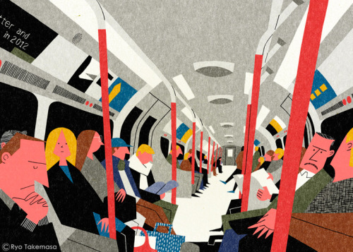 darksilenceinsuburbia:  Ryo Takemasa. On The Tube.