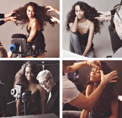 zoe saldana behind the scenes of her allure shoot