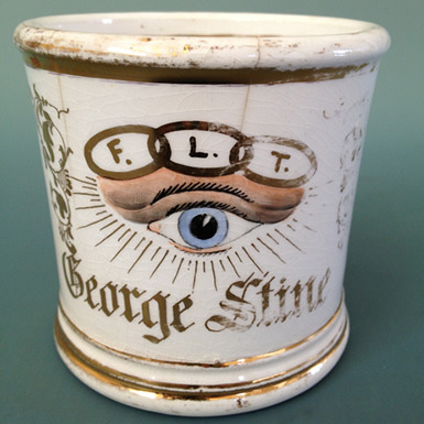 Who couldn't use an Odd Fellows Shaving Mug? I should think it would be popular among the youngsters in North Brooklyn.