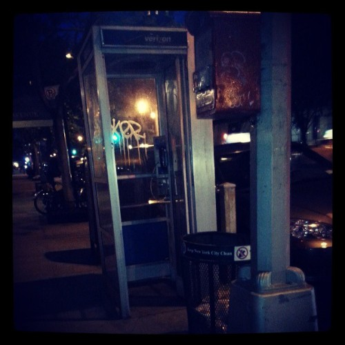 Damn, I forgot my super (wo)man suit at home. #phonebooth #oldnyc #uws